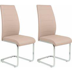 hela vrijdragende stoel amber 2 of 4 stuks (4 stuks) zilver