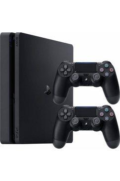 playstation 4 slim 500 gb bundle (incl. 2 ps4 wireless dualshock controllers) zwart