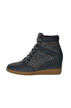 sneakers met sleehak grijs