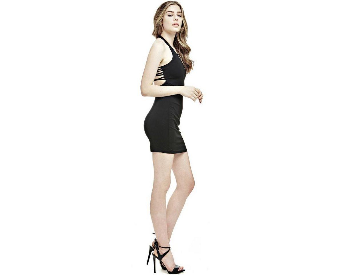 Guess jurk met smalle bandjes zwart
