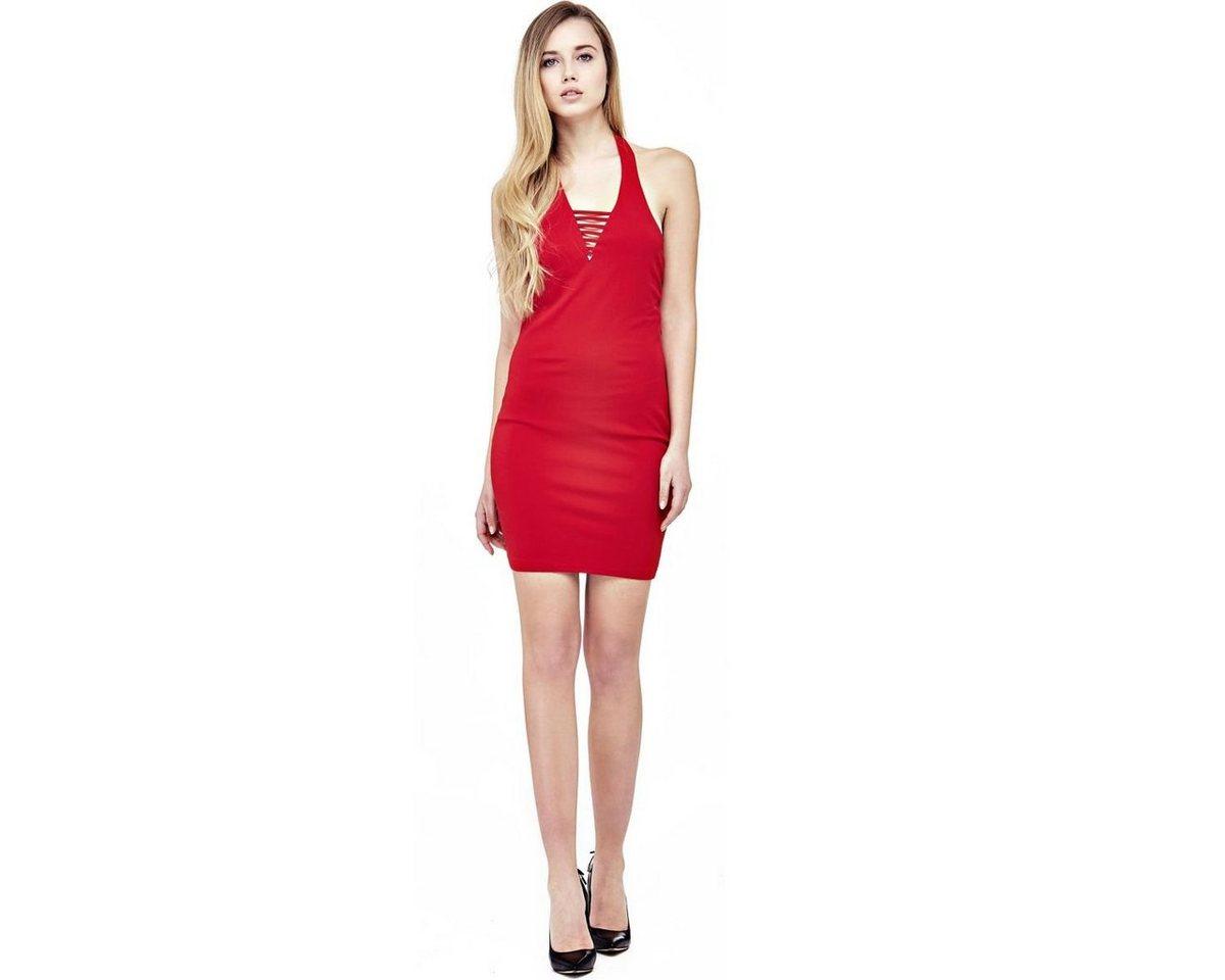Guess jurk met smalle bandjes rood