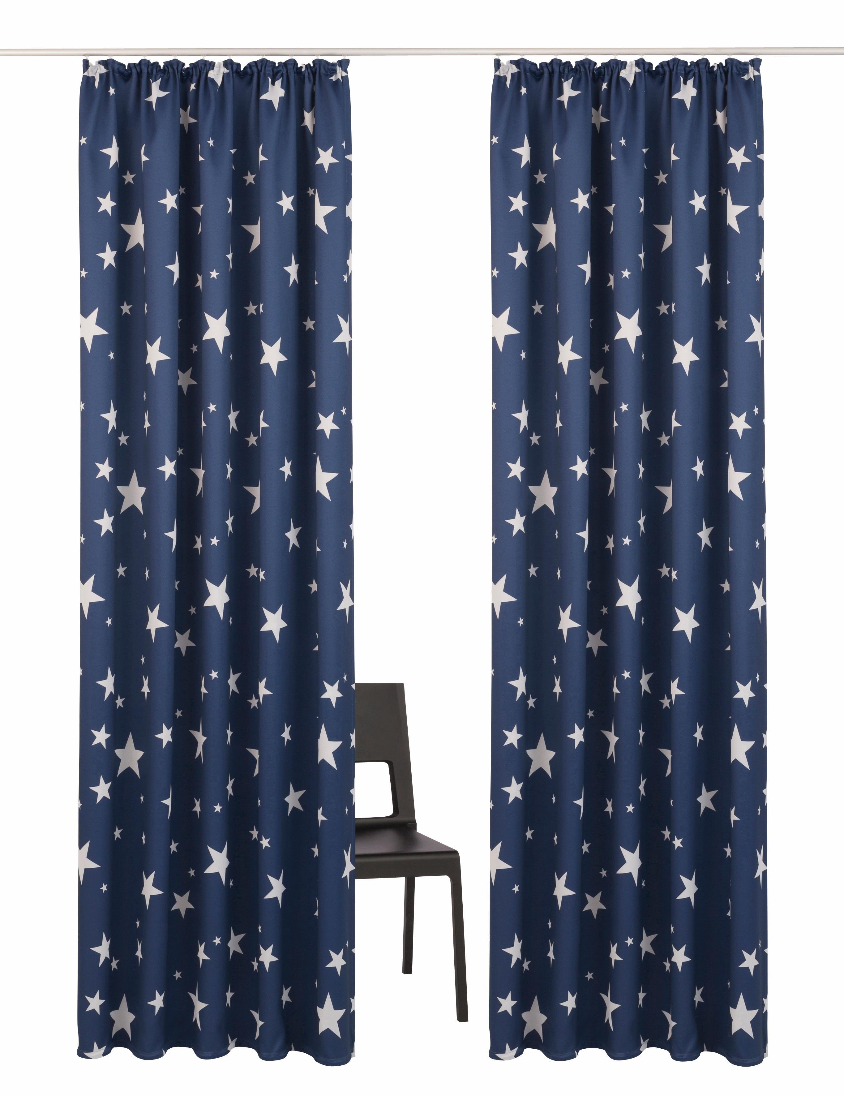 My Home Gordijn, »Solana-Star«, met rimpelband (set van 2) in de webshop van OTTO kopen