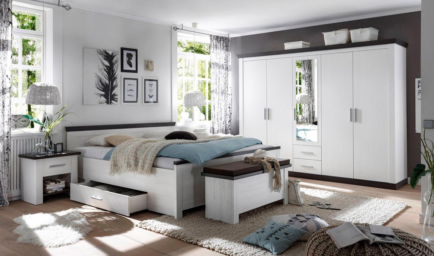 home affaire 4 delige slaapkamerserie 39 siena 39 online kopen otto. Black Bedroom Furniture Sets. Home Design Ideas