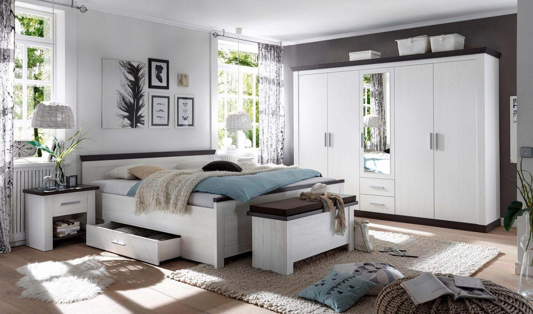 Home affaire slaapkamerserie Siena 5-deurs kledingkast, bed 180 cm, 2 nachtkastjes (set, 4 stuks) veilig op otto.nl kopen