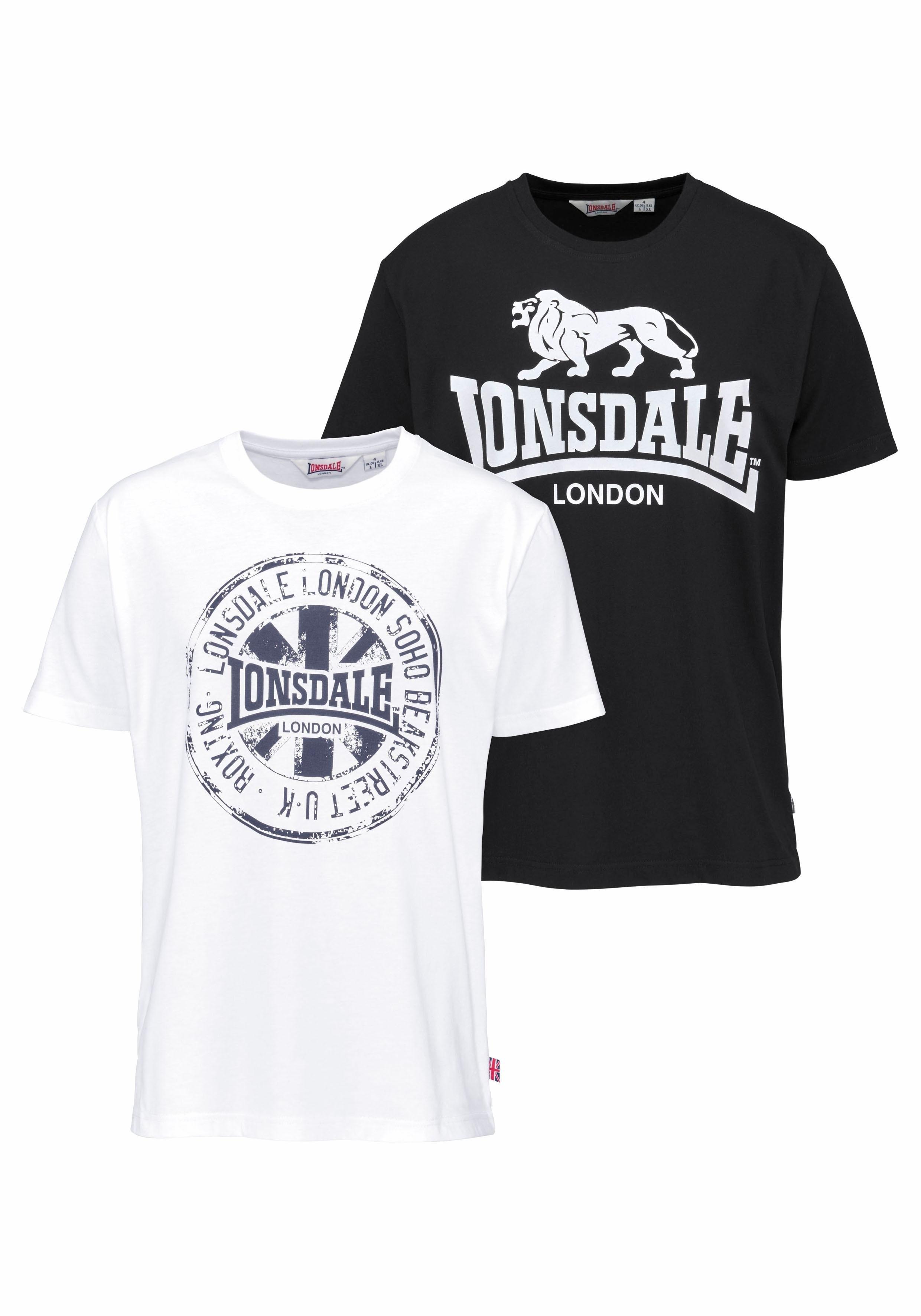 Lonsdale T-shirt DILDAWN (set, 2-delig, Set van 2) - verschillende betaalmethodes