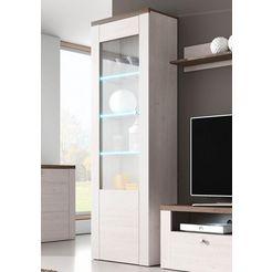 vitrinekast, hoogte 205,6 cm wit