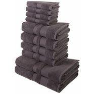 handdoekenset, my home, »ada«, met afgezet randdessin grijs