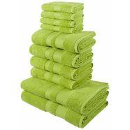 handdoekenset, my home, »ada«, met afgezet randdessin groen