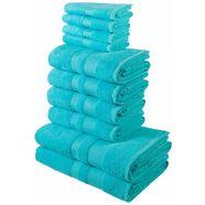 handdoekenset, my home, »ada«, met afgezet randdessin blauw