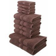 handdoekenset, my home, »ada«, met afgezet randdessin bruin