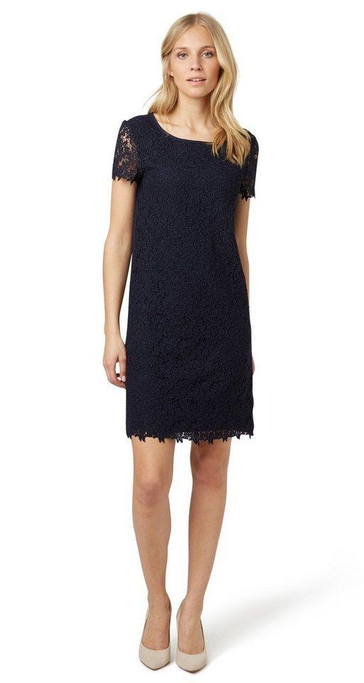 Tom Tailor jurk »kanten jurk met korte mouwen« blauw