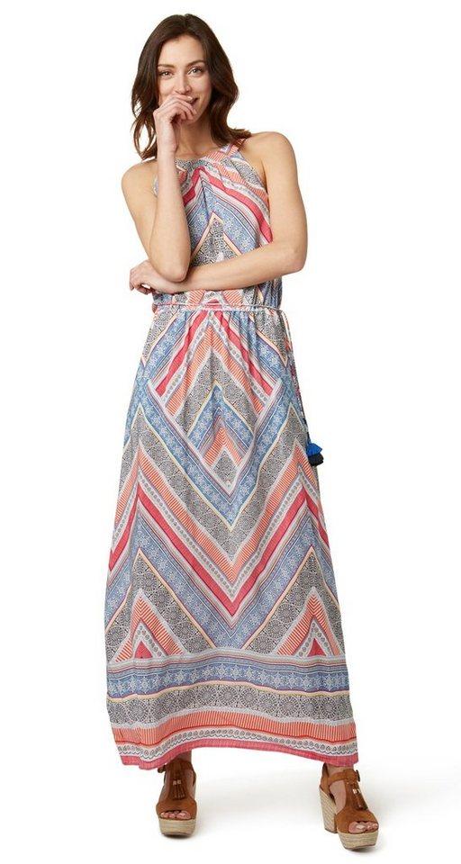 Tom Tailor jurk Maxi-jurk met kwastjesdetail multicolor