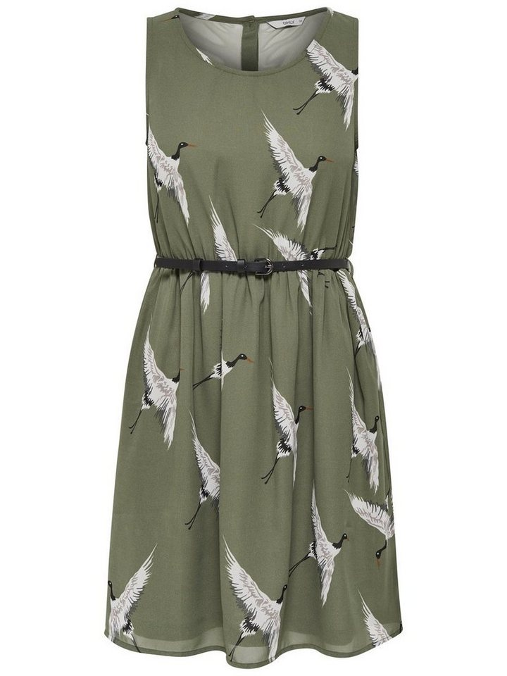 ONLY Mouwloze jurk groen