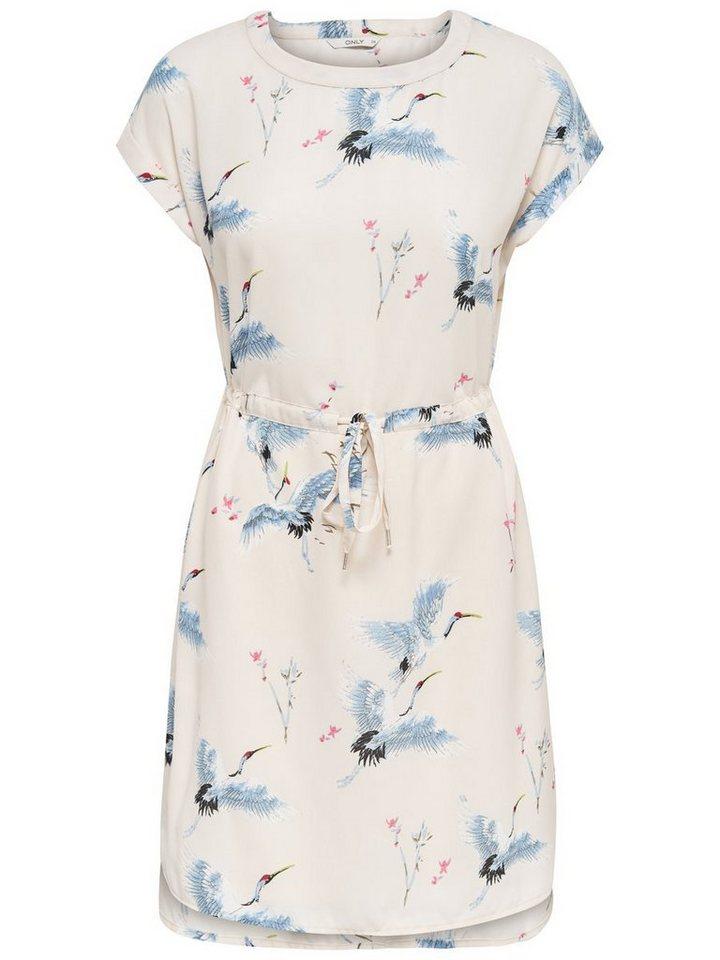 ONLY jurk met korte mouwen roze