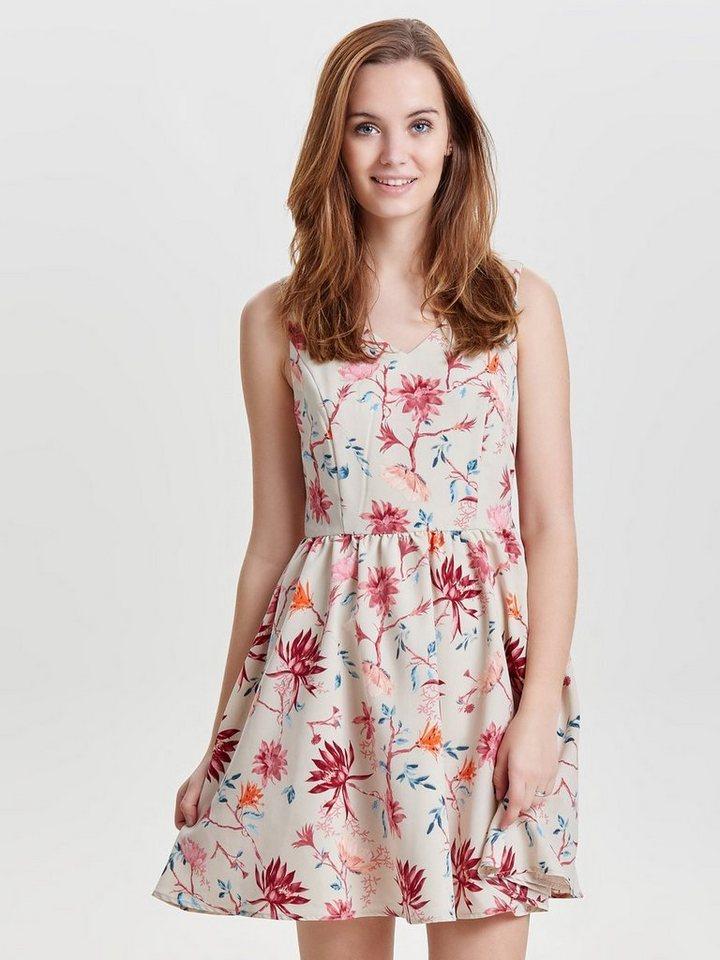 ONLY Mouwloze jurk roze