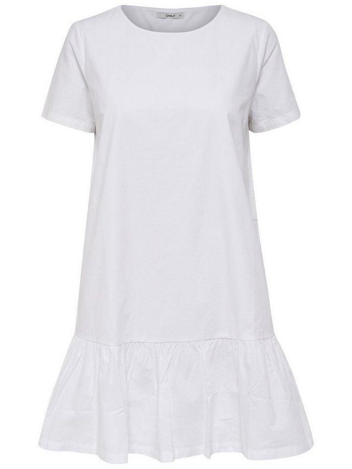 ONLY Peplum jurk met korte mouwen wit