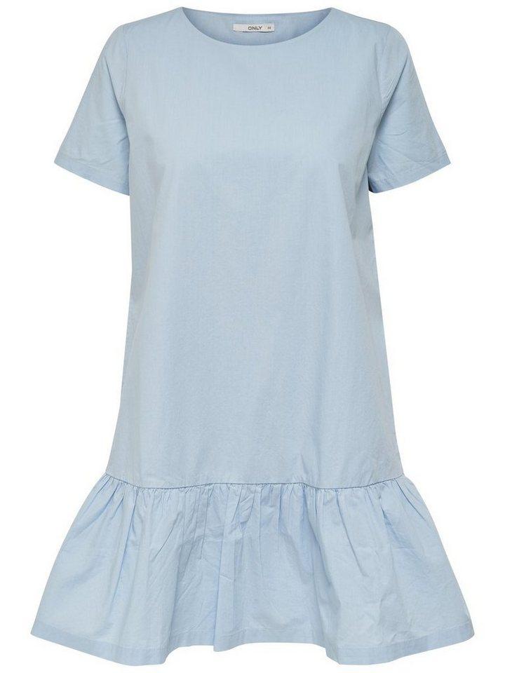 ONLY Peplum jurk met korte mouwen blauw