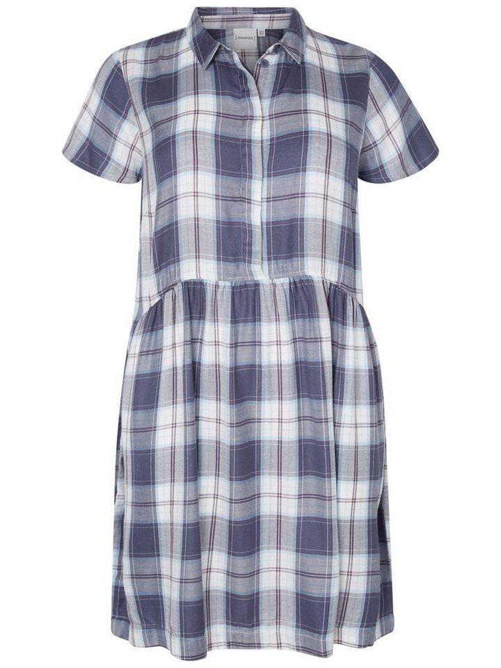 Junarose Geruite jurk blauw