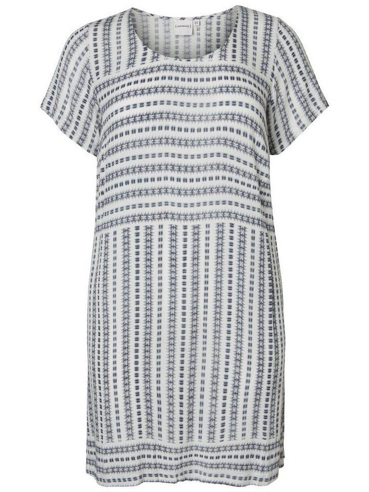 Junarose Gedessineerde jurk wit