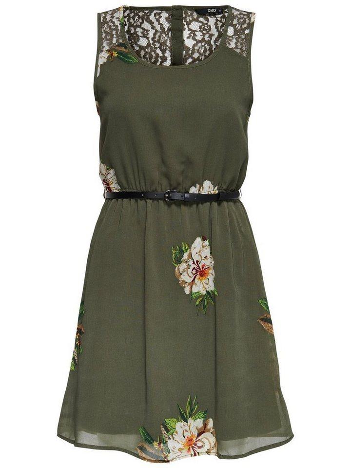 ONLY Bedrukte Mouwloze jurk groen