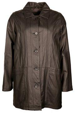 jcc leren mantel met aangenaam ruime zakken »ik48« bruin