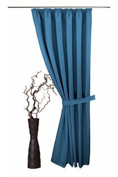 vhg embrasse gerti in linnen look (1 stuk) blauw