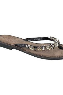 mustang shoes sandalen met opgestikte steentjes in bloemen-look zilver