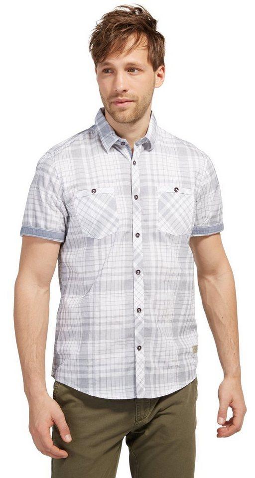 - TOM TAILOR Hemd geruit overhemd met korte mouwen