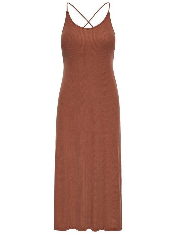 ONLY Mouwloze Maxi jurk bruin