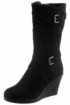 city walk laarzen met sleehak zwart