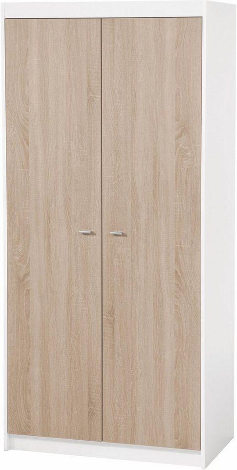 ROBA garderobekast Gabriella 2-deurs met 5 planken