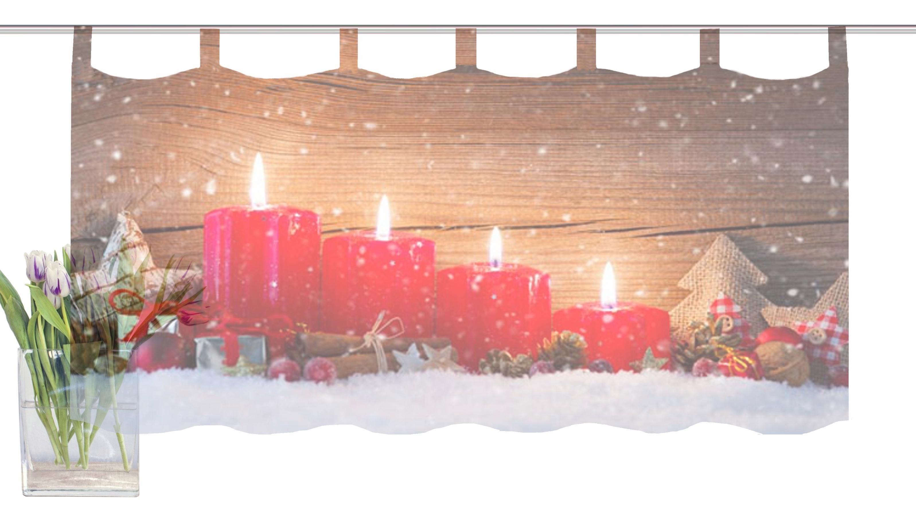 Vitrage home wohnideen kaarsen« met lussen per stuk