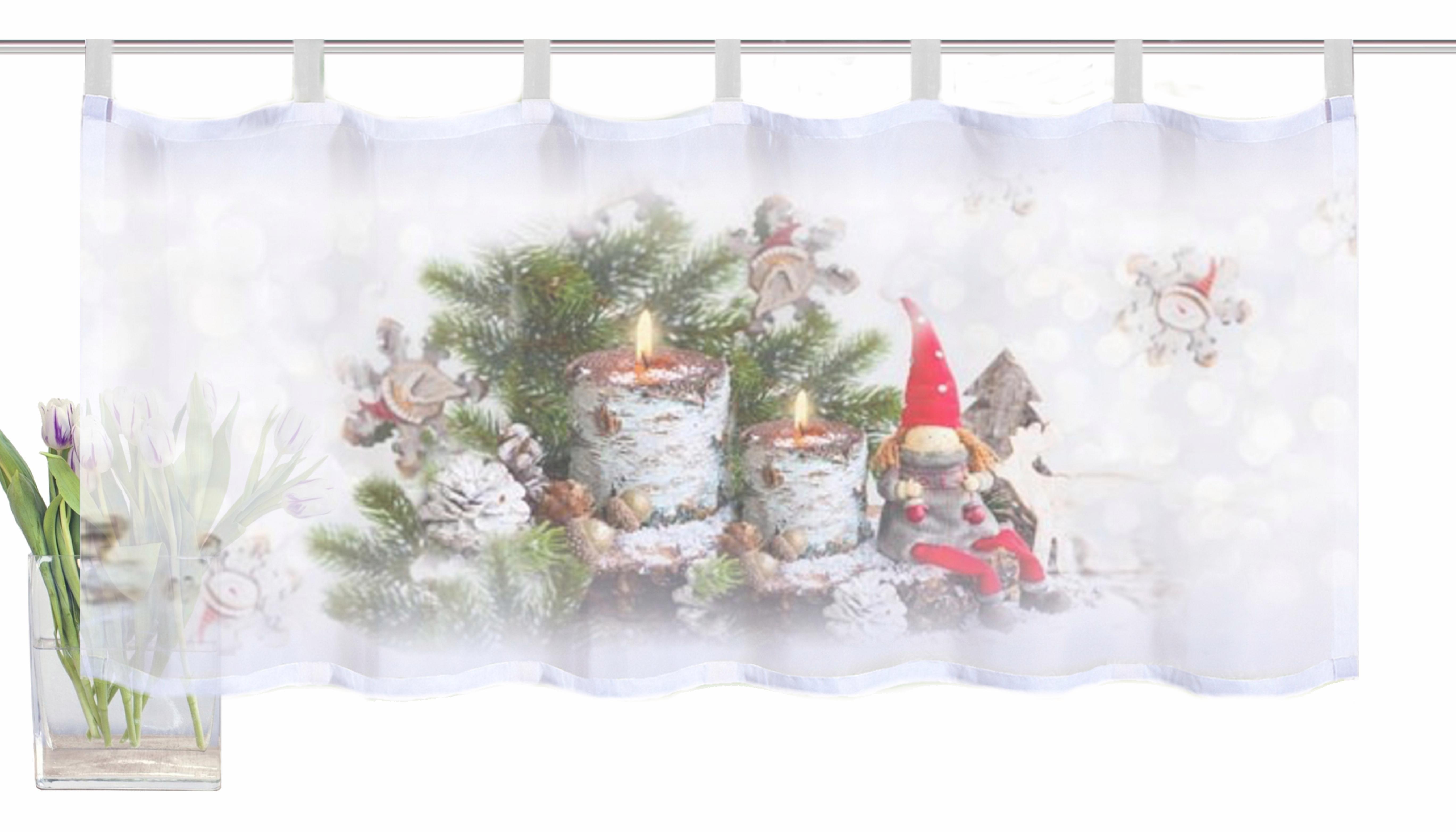 Vitrage home wohnideen »kerstkabouter« met lussen per stuk koop