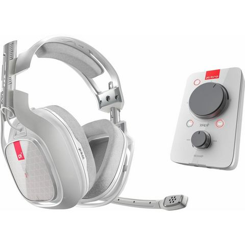 Gaming headset 3.5 mm jackplug Kabelgebonden, Stereo Astro Gaming A40 TR Headset Over Ear Wit