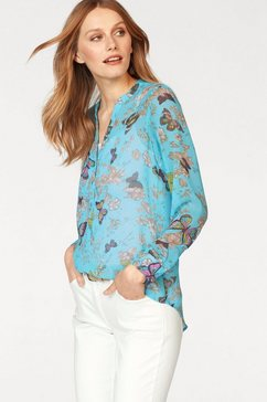 aniston casual chiffonblouse blauw