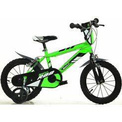 dino mountainbike voor kinderen, 14  16 inch, 1 versnelling groen