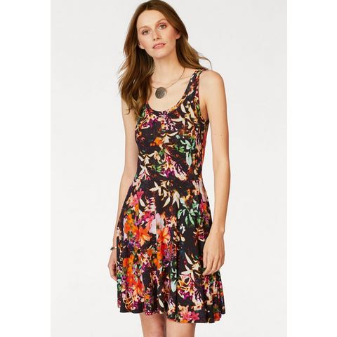 LAURA SCOTT Jersey-jurk met allover-print