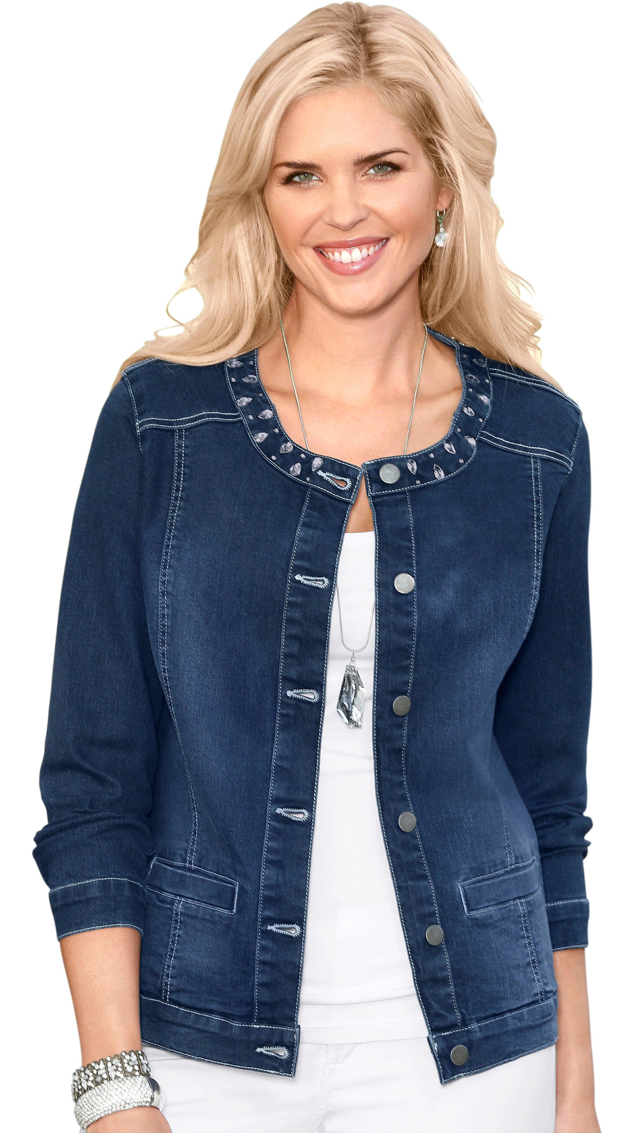Classic Basics jeansjack met expressieve glinstersteentjes veilig op otto.nl kopen
