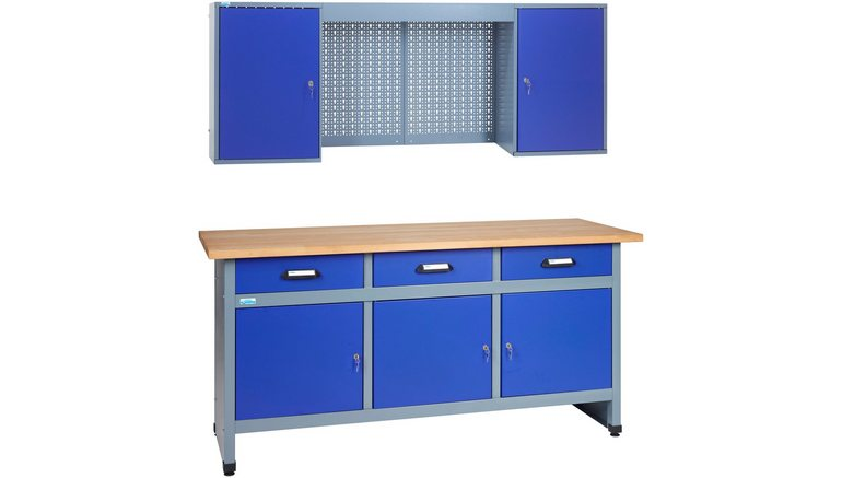 k pper werkbank set 1 70 m ultra marineblauw in. Black Bedroom Furniture Sets. Home Design Ideas