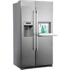 bosch side-by-side-koelkast kag90ai20, a+, 177 cm hoog, no frost metaal