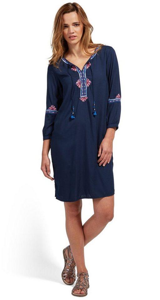 Tom Tailor jurk »jurk met decoratief borduursel« blauw
