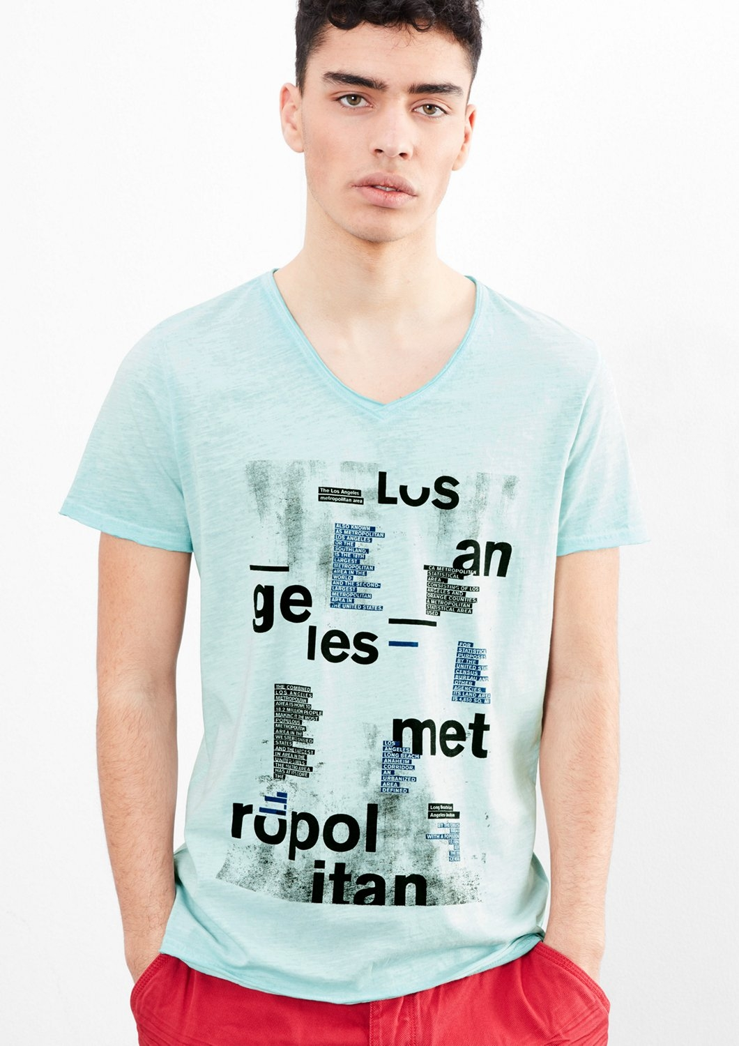 Q/s Designed By Cold pigment dyed printed shirt - verschillende betaalmethodes