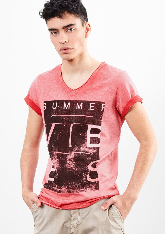Q/s Designed By Cold pigment dyed printed shirt - verschillende betaalmethodes