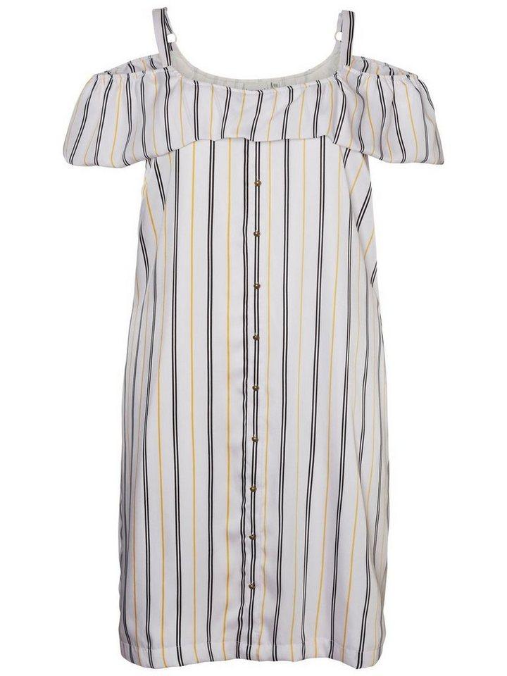 Junarose Korte mouw jurk wit