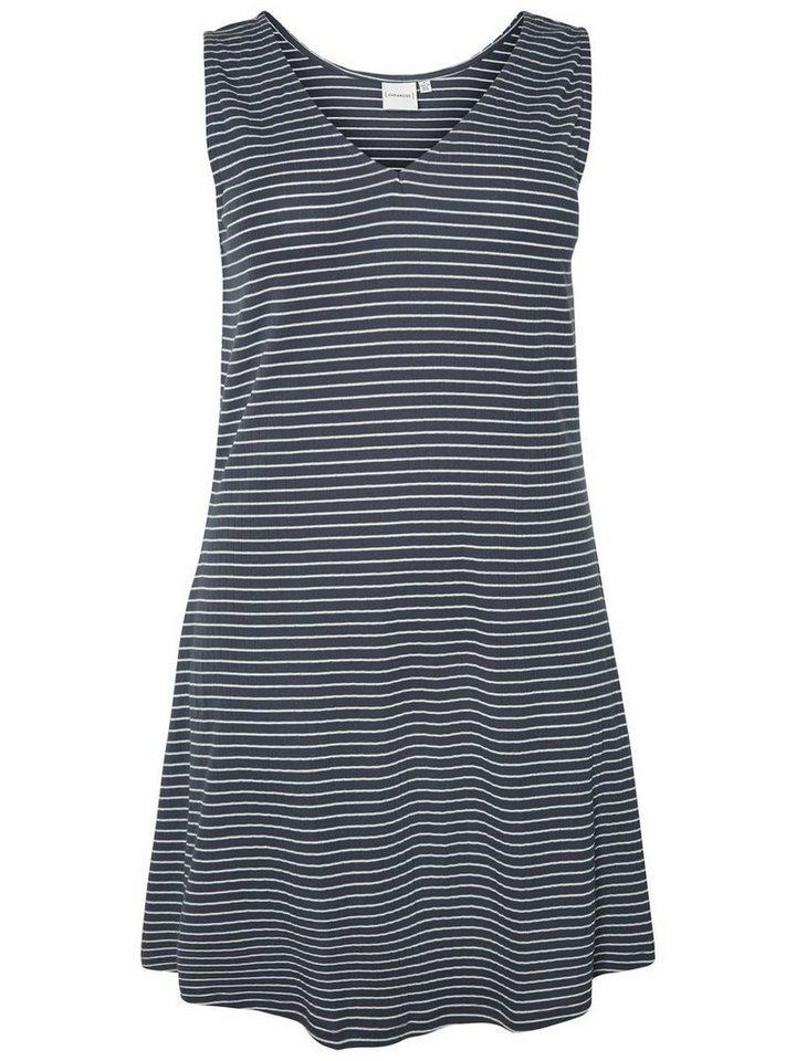 Junarose Mouwloze jurk blauw