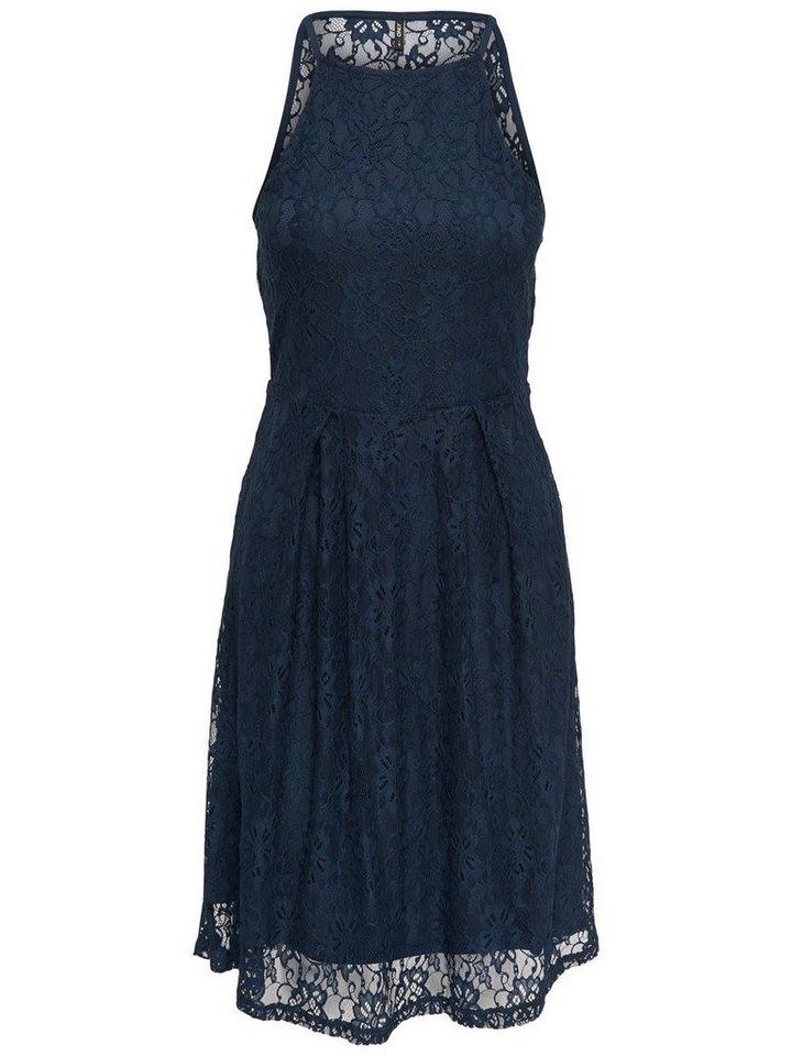 ONLY Lace Mouwloze jurk blauw