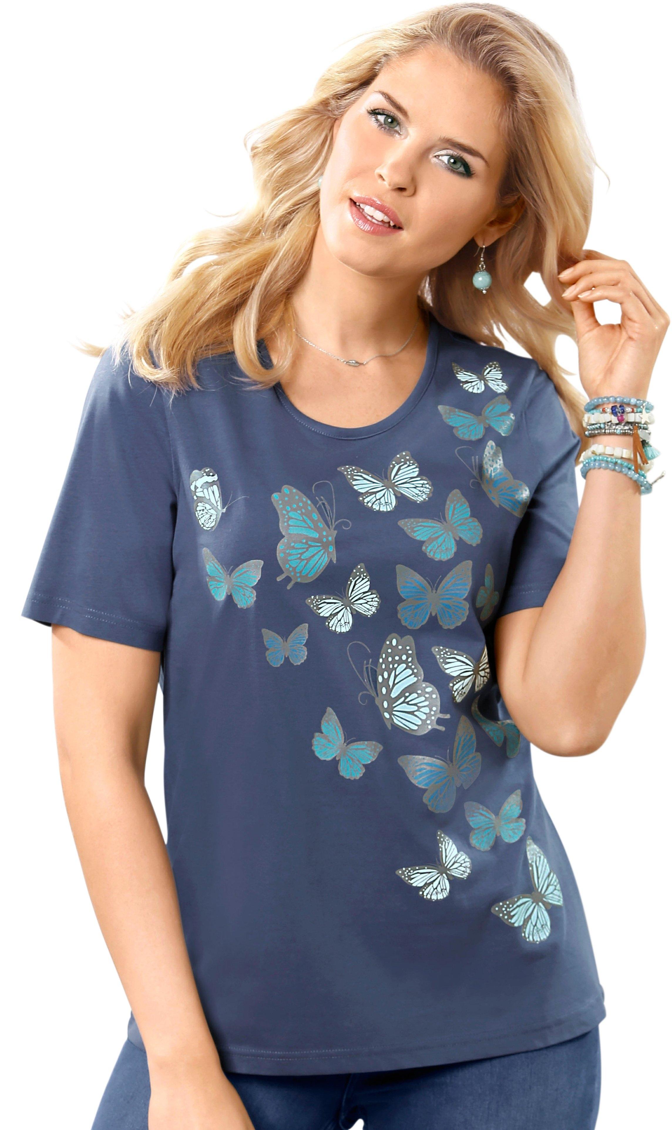 Met Vlinderprint Shirt Basics Shoppen Online Classic Mooie R34L5Aqj