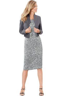 classic basics jurk met split aan de achterkant grijs