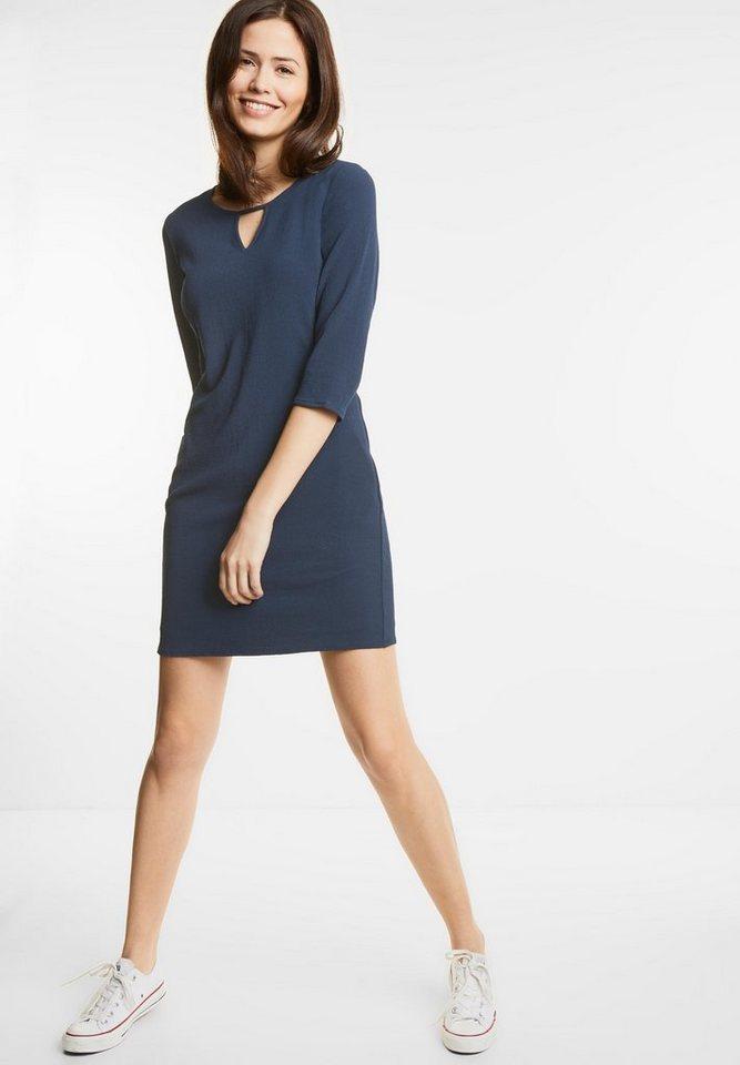 Street One jurk met splitten Pina blauw