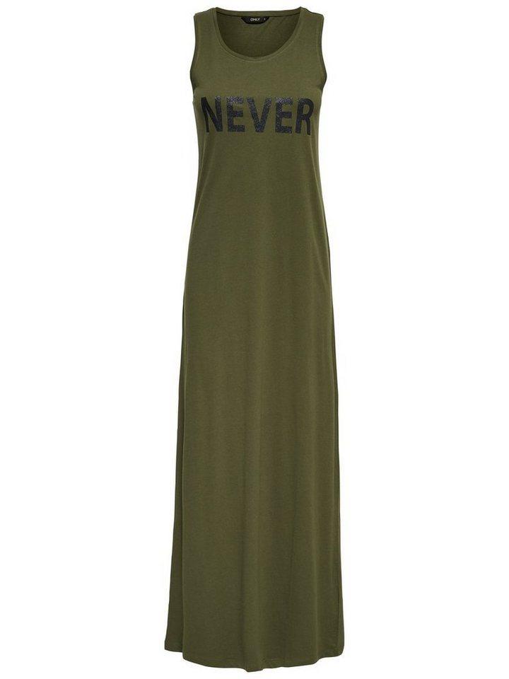 ONLY Mouwloze Maxi jurk groen